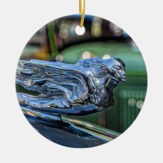 Cadillac Hood Ornament Circle Ornament
