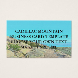 CADILLAC MOUNTAIN BUSINESS CARD TEMPLATE