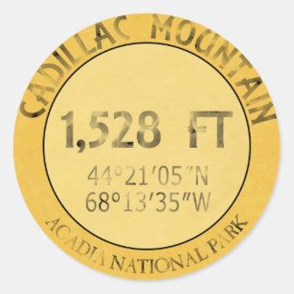 Cadillac Mountain Classic Round Sticker