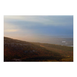 Cadillac Mountain Landscape Photo Poster