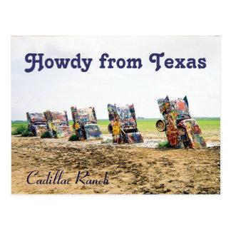 Cadillac Ranch Postcard