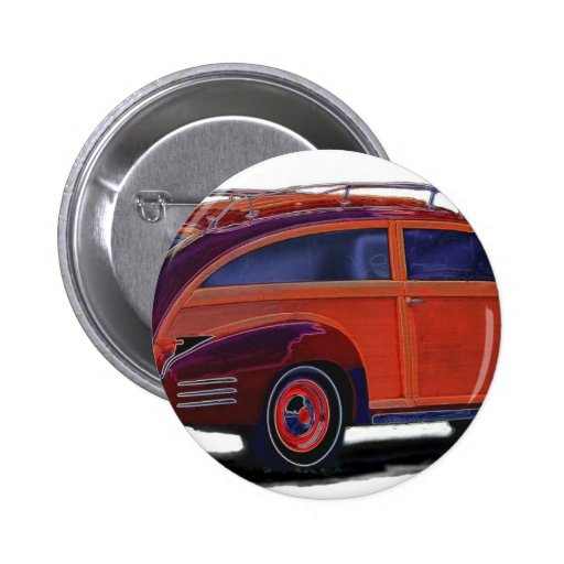 Cadillac station Wagon Pinback Button