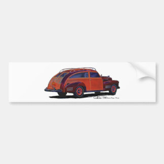 Cadillac station Wagon Car Bumper Sticker