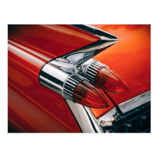 Cadillac Tail Fin and Taillights Postcard