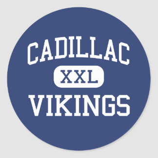 Cadillac Vikings Middle Cadillac Michigan Classic Round Sticker