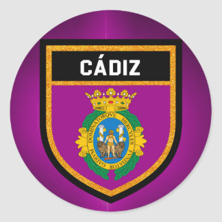 Cádiz Flag Classic Round Sticker
