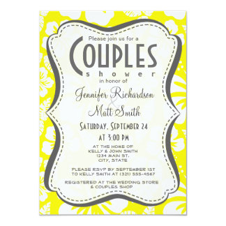 Cadmium Yellow Tropical Hibiscus 11 Cm X 16 Cm Invitation Card