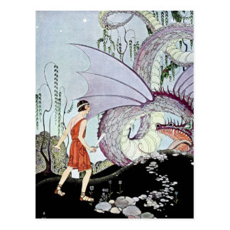 Cadmus and the Dragon from Tanglewood Tales Postcard
