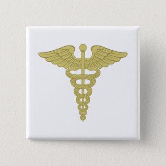 Caduceus 15 Cm Square Badge