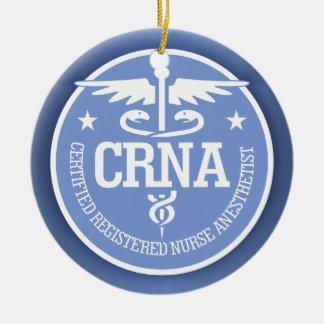Caduceus CRNA gift ideas Ceramic Ornament