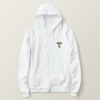 Caduceus Embroidered Hoodie