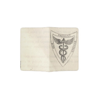 Caduceus in Shield Passport Holder