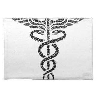 Caduceus -Medical symbol- made of circle cells Placemat