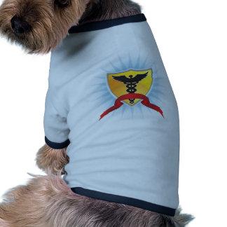 Caduceus Medical Symbol - Shield with Ribbon Doggie Tee Shirt