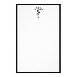 Caduceus Medical Symbol Stationery