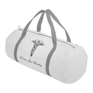 caduceus medicine symbol doctor gym bag