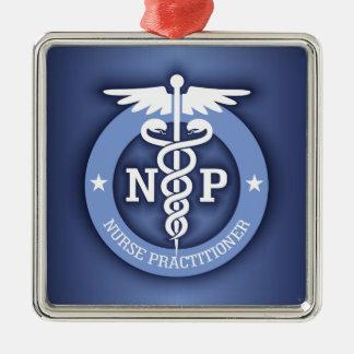 Caduceus NP (blue) Metal Ornament