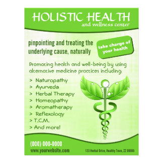 "Caduceus Symbol 8.5"" x 11"" Holistic Health Flyers"