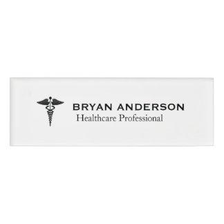 Caduceus Symbol Medical Healthcare Name Tag