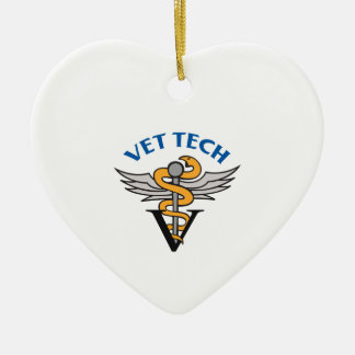 CADUCEUS VET TECH CERAMIC ORNAMENT