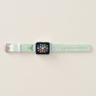 Caduceus with leaves background apple watch band