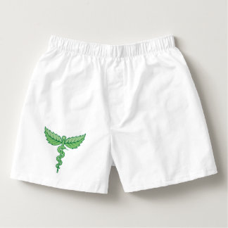 Caduceus with leaves boxers