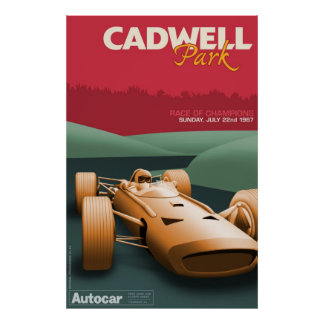 Cadwell Park Racing Poster