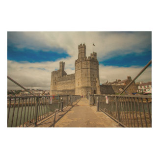 Caernarfon Castle Wales. Wood Wall Decor