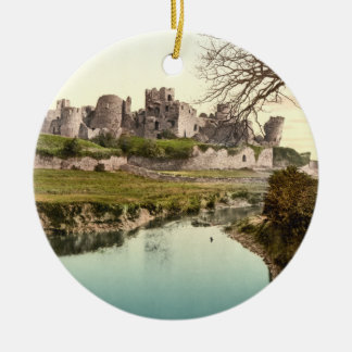 Caerphilly Castle, Wales Ceramic Ornament