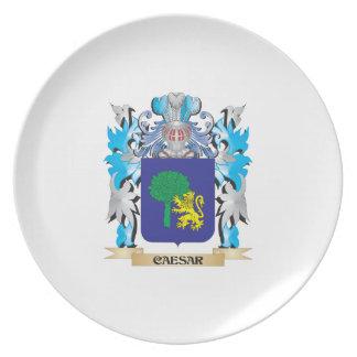 Caesar Coat of Arms - Family Crest Dinner Plate