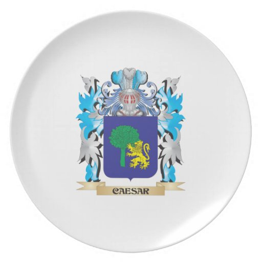 Caesar Coat of Arms - Family Crest Dinner Plate