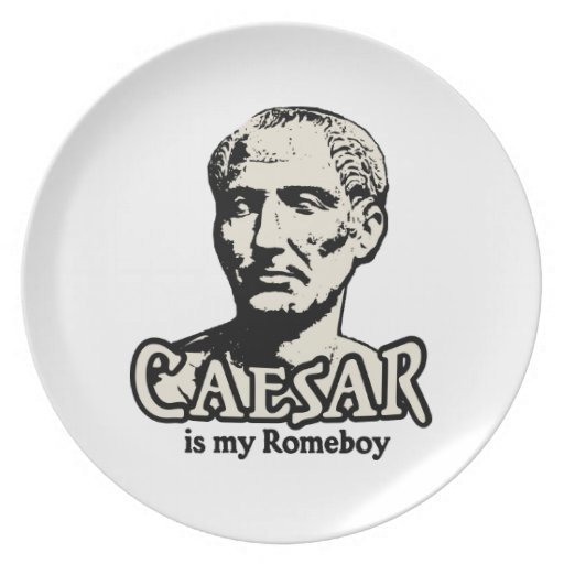 Caesar Romeboy Party Plates