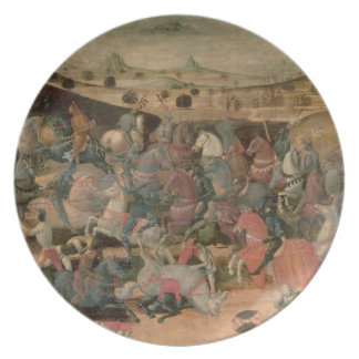 Caesar Triumphing in Battle (tempera on panel) Dinner Plates