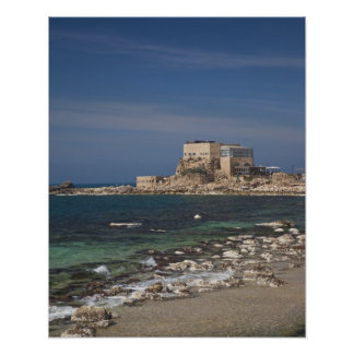 Caesarea ruins of port built by Herod the Great 2 Poster