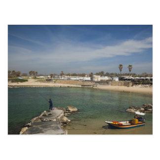 Caesarea ruins of port built by Herod the Great Postcard