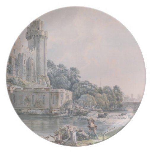 Caesar's Tower and Part of Warwick Castle Party Plate