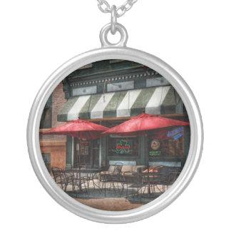 Cafe - Albany, NY - Mc Geary's Pub Round Pendant Necklace