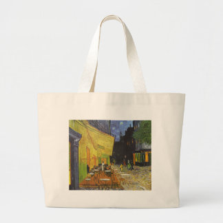 Cafe at Night by Vincent Van Gogh Canvas Bags