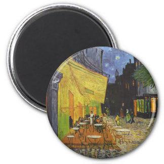 Cafe at Night by Vincent Van Gogh 6 Cm Round Magnet