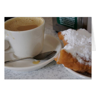 Cafe au lait & beignets card