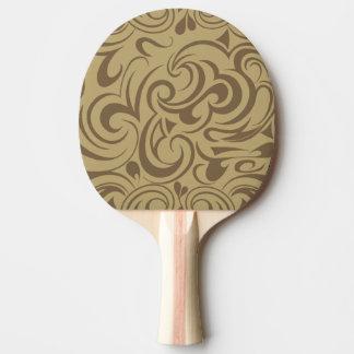Café Au Lait Ping Pong Paddle