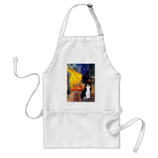 Cafe - Black and White cat Apron