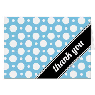 Cafe Blue Assorted Polka Dot Thank You Card