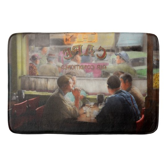 Cafe - Cold drinks with friends 1941 Bath Mat