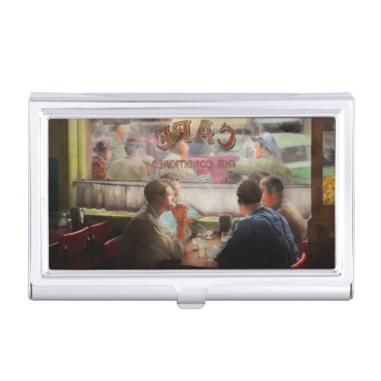 Cafe - Cold drinks with friends 1941 Business Card Holder