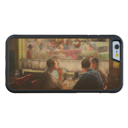 Cafe - Cold drinks with friends 1941 Carved Maple iPhone 6 Bumper Case