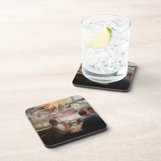 Cafe - Cold drinks with friends 1941 Coaster