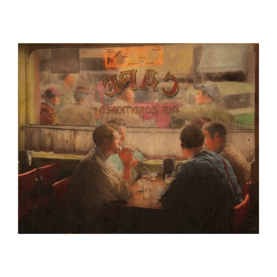 Cafe - Cold drinks with friends 1941 Cork Fabric