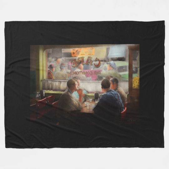 Cafe - Cold drinks with friends 1941 Fleece Blanket