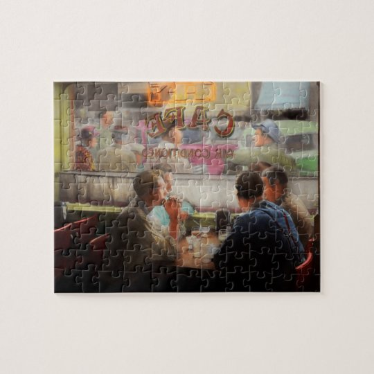 Cafe - Cold drinks with friends 1941 Jigsaw Puzzle
